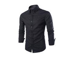 Casual Cotton Long Short Men Shirt