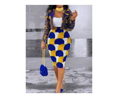 Fashion Print Skirt Bodycon Womens Two Piece Sets | free-classifieds-usa.com
