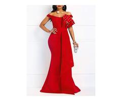 Floor-Length Patchwork High Waist Pullover Womens Maxi Dress | free-classifieds-usa.com