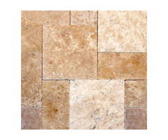 Shop For Online Tuscany Beige 8X8 Honed Unfilled Tumbled Paver