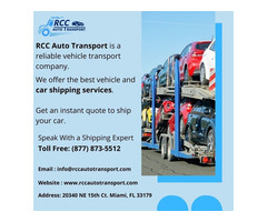 RCC Auto Transport - Top Rated Car Shipping Service Provider in USA