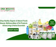 Organic food for family, baby, pets at wholesaler discount door-door across USA