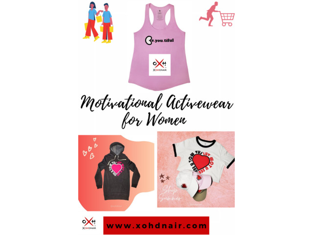Buy Motivational Activewear for Women at Xohdnair Webretailerz LLC   free-classifieds-usa.com