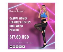Buy Casual Women Leggings Fitness High Waist Push up - Kaanjushoppe.com