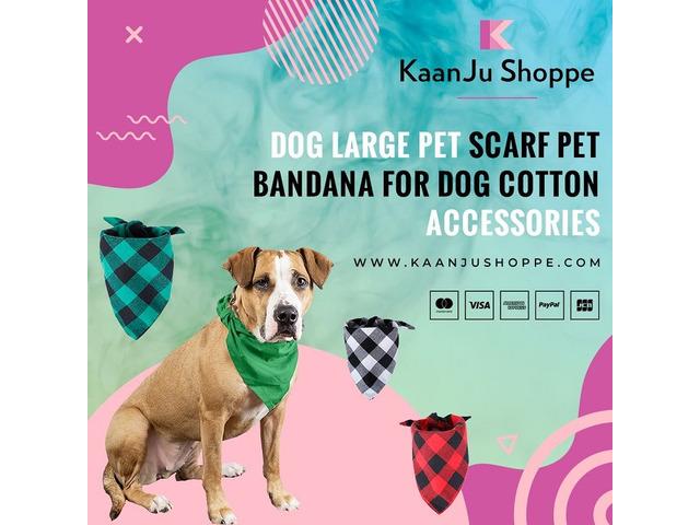 Dog Large Pet Scarf Pet Bandana for Dog Cotton Accessories - Kaanjushoppe.com | free-classifieds-usa.com