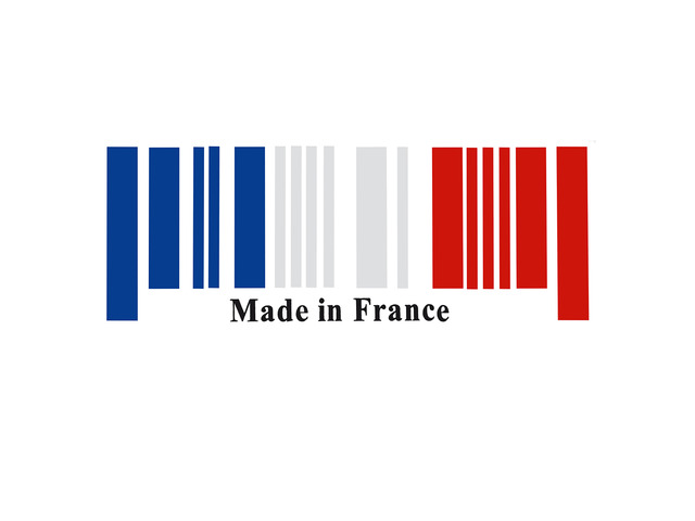 25x9cm PVC Car Made In France Bar Code Stickers Graphic Decal Decoration Universal | free-classifieds-usa.com