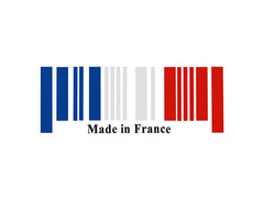 25x9cm PVC Car Made In France Bar Code Stickers Graphic Decal Decoration Universal