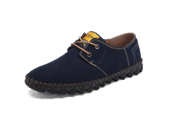 Men Comfy Lace Up Suede Flats Soft Sole Shoes | free-classifieds-usa.com
