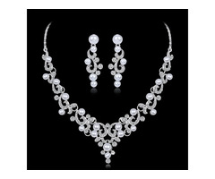 Floral Necklace European Jewelry Sets (Wedding)