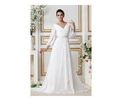 Sequins Beading Wedding Dress with Sleeves