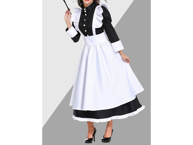 Western Long Sleeve Bowknot Polyester Classic Halloween Womens Costumes | free-classifieds-usa.com