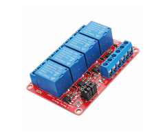 5V 4 Channel Level Trigger Optocoupler Relay Module For Arduino