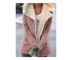 Single-Breasted Button Slim Mid-Length Womens Cotton Padded Jacket