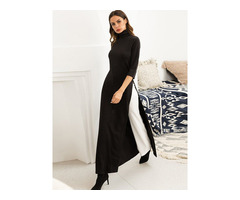Color Block Elegant Womens Maxi Dress