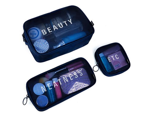 Nylon S/M/L Travel Women Cosmetic Bag Portable Makeup Bag Mesh Case Portable Box | free-classifieds-usa.com