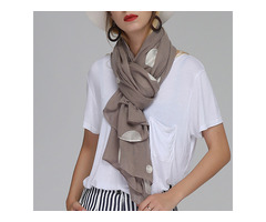 Women Unique Chiffon Printting Scarves Wave Point Shawl | free-classifieds-usa.com