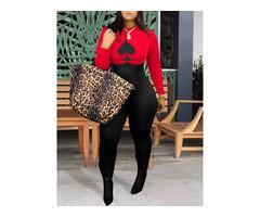 Print Color Block Full Length Skinny Mid Waist Womens Jumpsuit