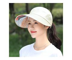 Women Summer Travel Outdoor Sunshade Visor Hat