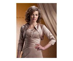 Simple Style Ladys Unpatterned 3/4 Sleeve Evening/Wedding Jacket