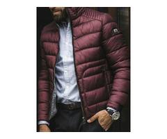 Standard Zipper Plain Color Turtleneck Casual Mens Down Jacket