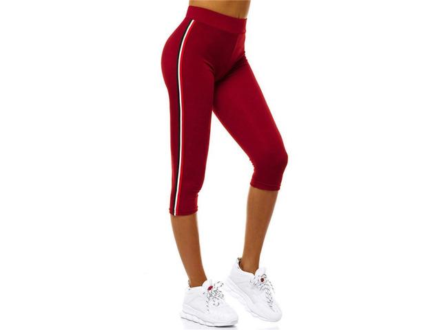 Stripe Polyester Female Mid-Calf Pants   free-classifieds-usa.com