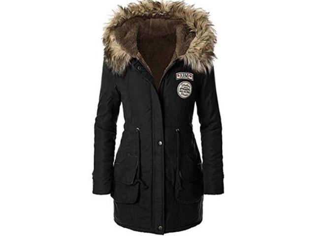 Color Block Splendid Big Pocket Warm Womens Overcoat   free-classifieds-usa.com