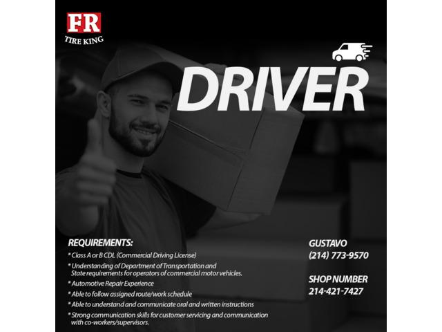 Hiring Driver for Company in Dallas, Texas | free-classifieds-usa.com