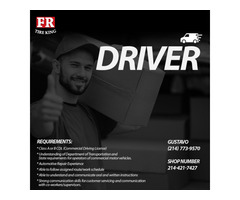 Hiring Driver for Company in Dallas, Texas