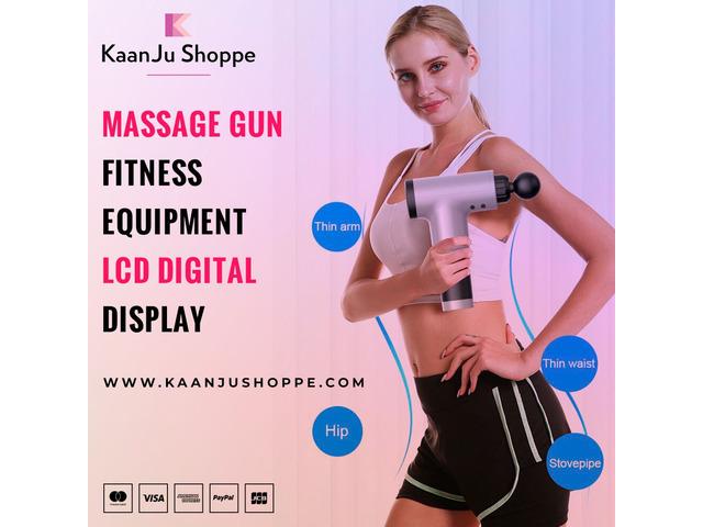 Buy Massage Gun Fitness Equipment LCD Digital Display   free-classifieds-usa.com