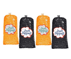 Halloween Orange and Black Colored Party Popcorn