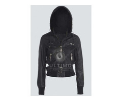 Women Black Bomber Jacket