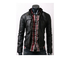 Black Slim Fit Stylish Leather Jacket