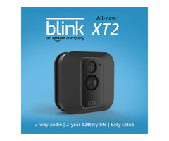 Blink XT2 Outdoor/Indoor Smart Security Camera with Motion Detection