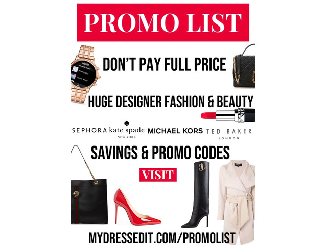 Women's Designer Fashion & Cosmetics Promo Codes - Updated Daily | free-classifieds-usa.com