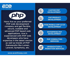 PHP Web Development Services   Ace Infoway