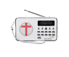 Bible MP3 Audio Music Player Portable Mini FM Radio TF USB LED Display Digital Keypad Function For E