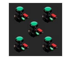 5Pcs Green 45mm Arcade Video Game Big Round Push Button LED Lighted Illuminated Lamp