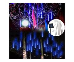 Solar Powered 30cm 8 Tube LED Meteor Shower Rain Garden Tree Outdooors HoliDay Light