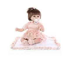 18inch Reborn Baby Girl Doll Handmade Lifeike Baby Girl Dolls Play House Toys