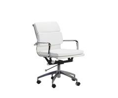 Mid-Century Modern Office Chair in White