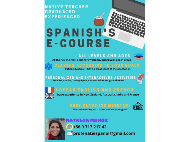 Spanish Teacher. Native, diplomated, experienced. Online | free-classifieds-usa.com