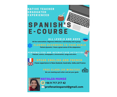 Spanish Teacher. Native, diplomated, experienced. Online