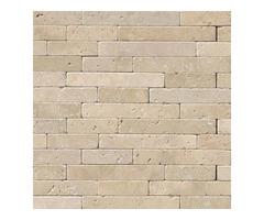 Shop For Online Chiaro Travertine 8x18 Tumbled Stone Veneer