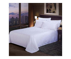 Decorative White Stripe Flat Sheet