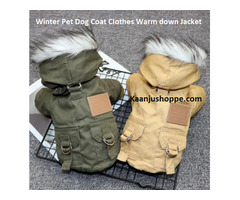 Winter Pet Dog Coat Clothes Warm down Jacket - Kaanjushoppe.com