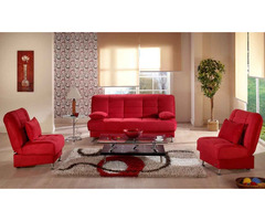 Istikbal Vegas Convertible Living Room Set in Rainbow Red