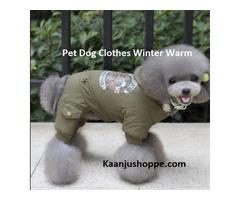 Pet Dog Clothes Winter Warm Jumpsuit - Kaanjushoppe.com