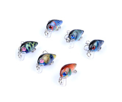 ZANLURE 6PCS 3cm 1.5g Fishing Lures Wobblers Painting Series Fishing Topwater Artificial Fishing Lur