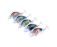 ZANLURE 5PCS 4.5cm 4.2g Fishing Lures Rock Fishing Hard Bait Lures Bass Crankbaits Bait