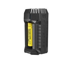 Nitecore V2 6A USB Output In-Car Speedy Smart Battery Charger with 12V Adapter 2Slots 18650 26650 AA